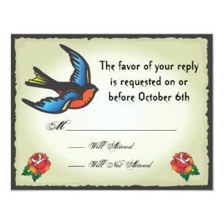 Tattoo Wedding RSVP Card Announcement