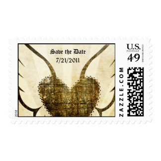 Tattoo Winged Heart Save Date Postage