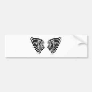 Tattoo wings bumper sticker