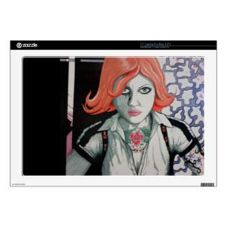 """Tattoo Zombie Girl (AOM Design) Decals For 17"""" Laptops"""