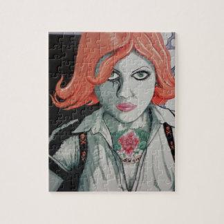 Tattoo Zombie Girl (AOM Design) Jigsaw Puzzle