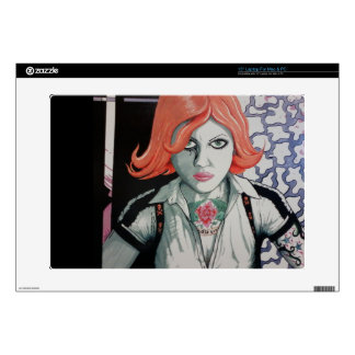 Tattoo Zombie Girl (AOM Design) Laptop Decal
