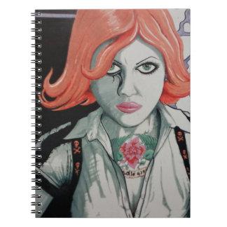 Tattoo Zombie Girl (AOM Design) Spiral Notebook