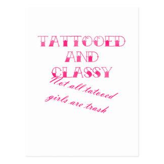Tattooed And Classy Postcard