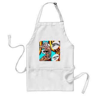 tattooed blonde pinup apron standard apron