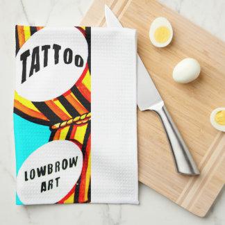 tattooed blonde pinup towel
