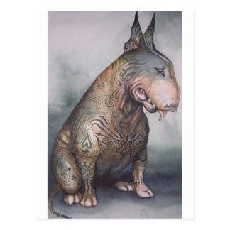 Tattooed bully postcard