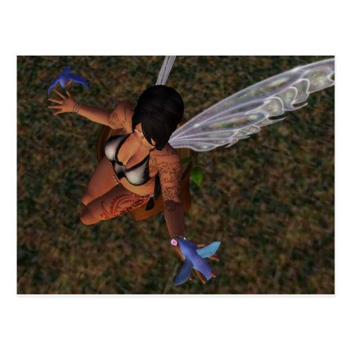 Tattooed Fairy Tales Postcard