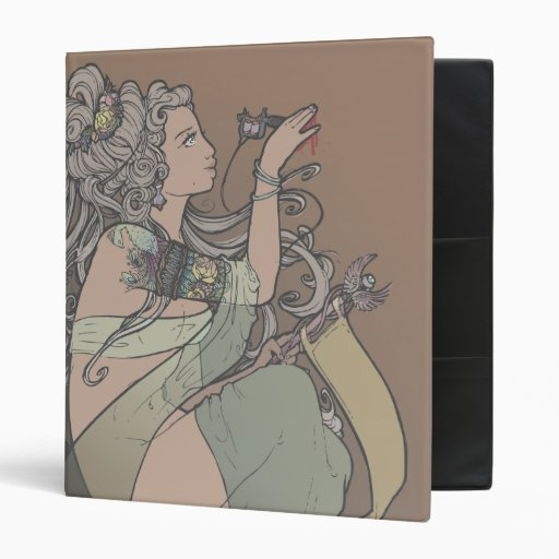 Tattooed Goddess [brown background] - binder