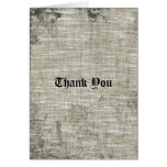 Tattooed Grunge Gothic Linen Thank You Stationery Note Card