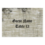 Tattooed Grunge Linen bg Large Business Cards (Pack Of 100)