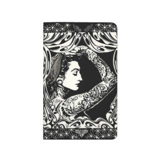 Tattooed gypsy woman black white journal