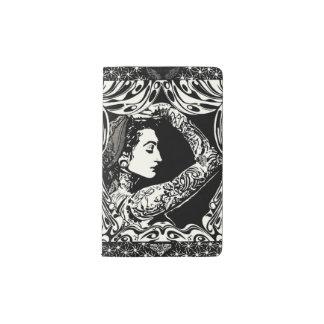 Tattooed gypsy woman black white journal pocket moleskine notebook