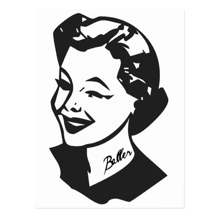 Tattooed Housewife - Baller Postcard