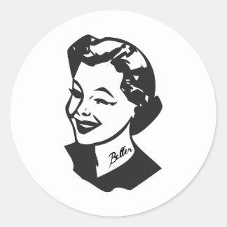 Tattooed Housewife - Baller Round Stickers