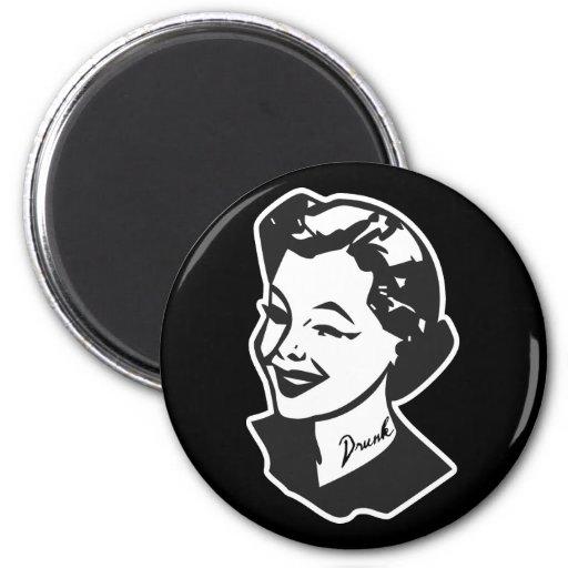 Tattooed Housewife - Drunk 2 Inch Round Magnet