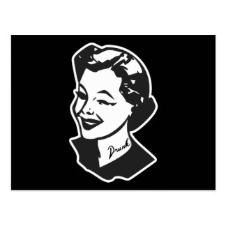Tattooed Housewife - Drunk Postcard