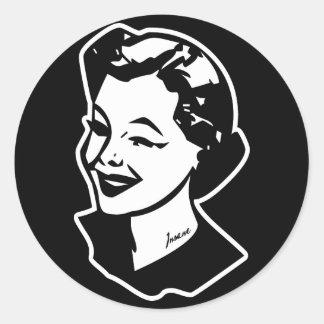 Tattooed Housewife - Insane Round Sticker