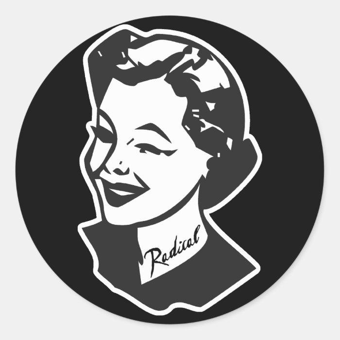 Tattooed Housewife - Radical Classic Round Sticker