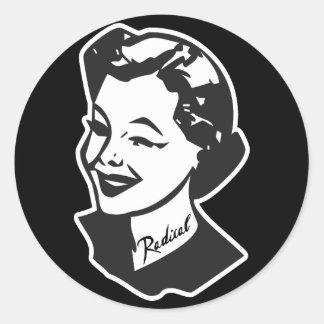 Tattooed Housewife - Radical Round Stickers