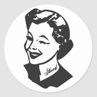 Tattooed Housewife - Stoned Classic Round Sticker