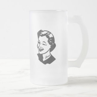 Tattooed Housewife - Stoned Frosted Glass Beer Mug