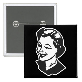 Tattooed Housewife - Stoned Pinback Button