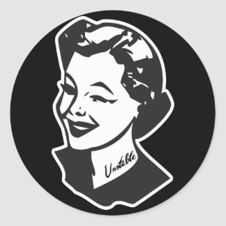 Tattooed Housewife - Unstable Classic Round Sticker