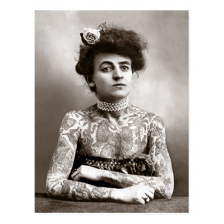 Tattooed Lady, 1907 Postcard