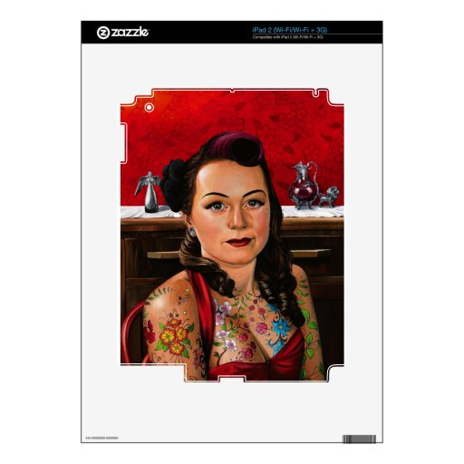 Tattooed Lady Painting Skins For The iPad 2
