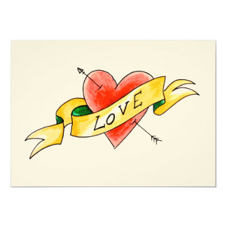 Tattooed love flat card