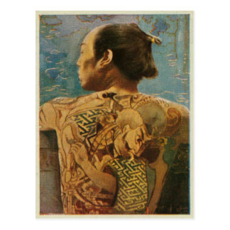 Tattooed Man From 1920's Japan Postcard