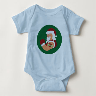 Tattooed Santa Baby Clothes Baby Bodysuit