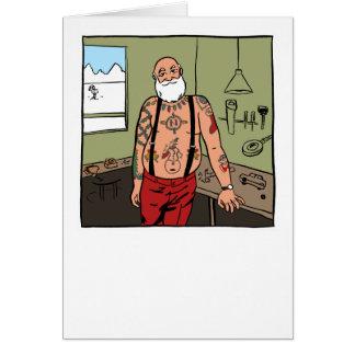 Tattooed Santa Christmas Card