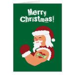 Tattooed Santa Greeting Card