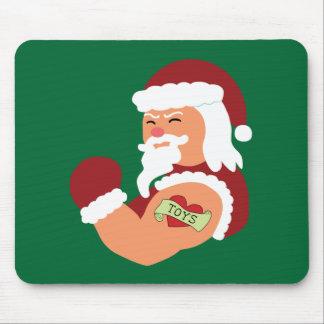 Tattooed Santa Mouse Pad