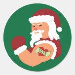 Tattooed Santa Sticker