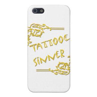 Tattooed Sinner yellow iPhone SE/5/5s Case