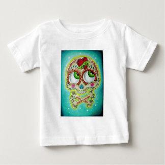 Tattooed sugar skull infant t-shirt