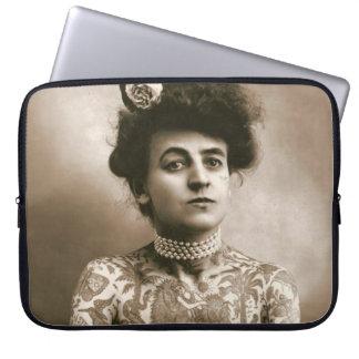 """Tattooed w/ Pearls Vintage Lady 15"""" Laptop Sleeve"""