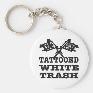 Tattooed White Trash Keychain