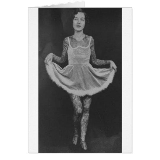 Tattooed woman - 1920 card