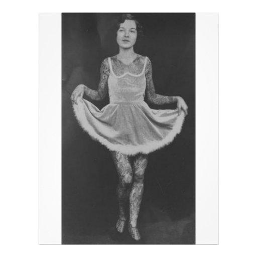 Tattooed woman - 1920 flyers