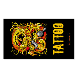 Tattooer Dragon Double-Sided Standard Business Cards (Pack Of 100)