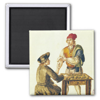 Tattooer veneciano imán cuadrado