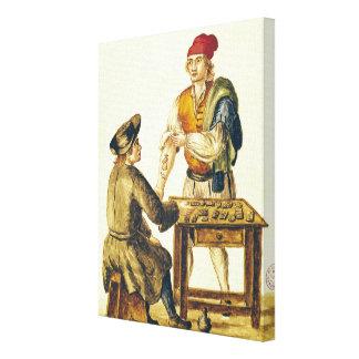 Tattooer veneciano impresión en lienzo estirada