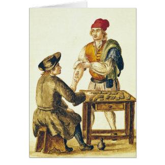 Tattooer veneciano tarjeta de felicitación