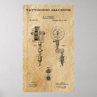 Tattooing Machine 2 Patent Art 1891 Posters