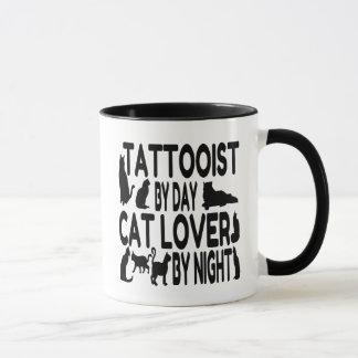 Tattooist del amante del gato taza