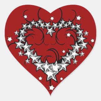 tattoos_008(1) BLACK WHITE RED LOVE HEART TATTOO Heart Sticker